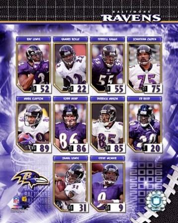 2006 - Ravens Team Composite art print
