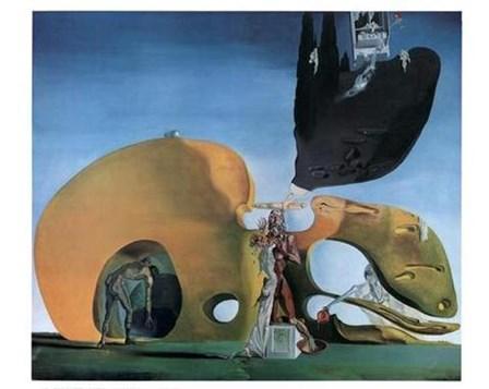 The Birth of Liquid Desires, c.1932 by Salvador Dali art print