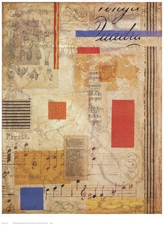 Terra Musica I by Betsy Bauer art print