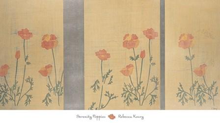 Serenity Poppies by Rebecca Koury art print