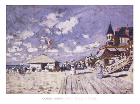 Sur les planches de Trouville by Claude Monet art print