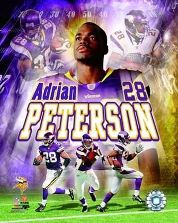 Adrian Peterson - 2007 Portrait Plus art print