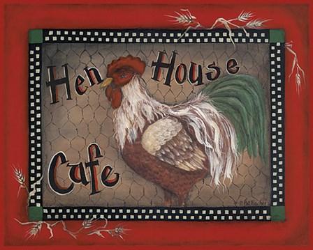 Hen House Cafe by Pat Fischer art print