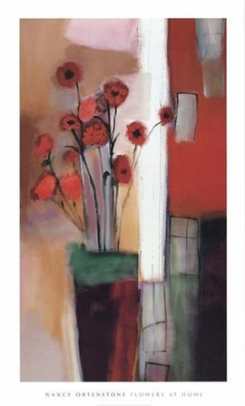 Flowers at Home by Nancy Ortenstone art print