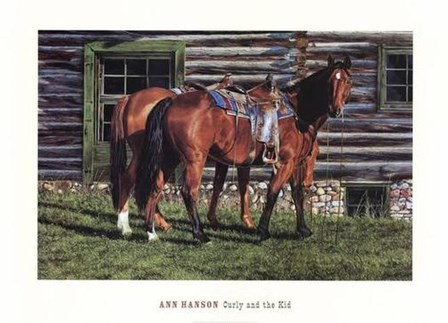 Curly and the Kid by Ann Hanson art print