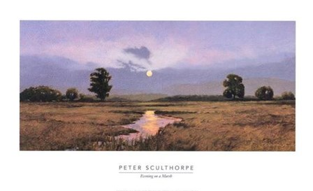 Evening on a Marsh by Peter Sculthorpe art print