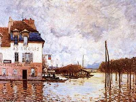 Flooding At Port-Marly by Alfred Sisley art print