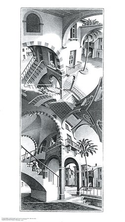 High and Low by M.C. Escher art print