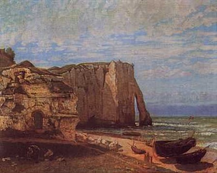 Cliffs At Etretat After a Storm by Gustave Courbet art print