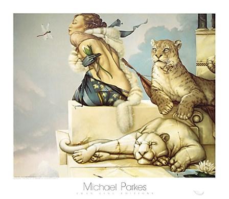 Deva by Michael Parkes art print