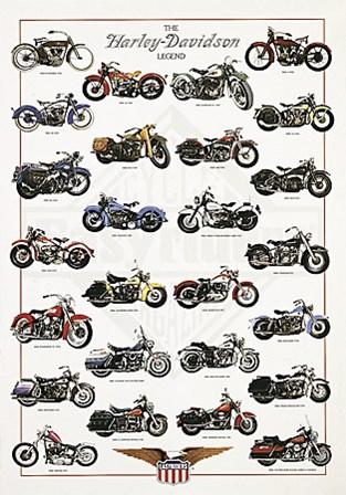 The Harley-Davidson Legend by Libero Patrignani art print