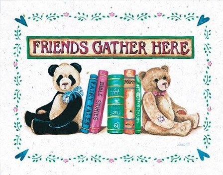Friends Gather Here by S. West art print