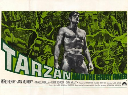 Tarzan and the Great River, c.1967 - style B art print