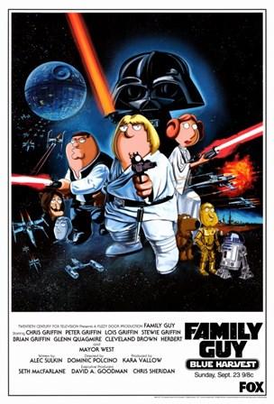 Family Guy Star Wars art print