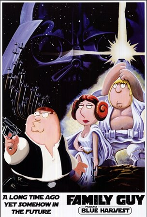 Family Guy Star Wars Jedi art print