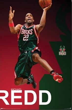 Bucks - Michael Redd - 08 art print