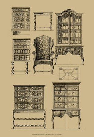 English Baroque Furniture by Vision Studio art print
