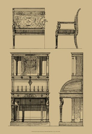French Empire Furniture I by Vision Studio art print