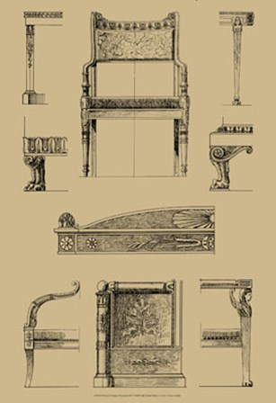 French Empire Furniture II by Vision Studio art print