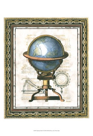 Traditional Globe II by Vision Studio art print
