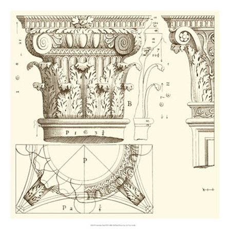 Corinthian Detail III by Vision Studio art print
