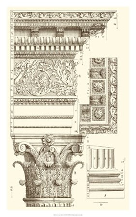 Corinthian Detail V by Vision Studio art print