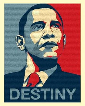 Obama - Destiny art print