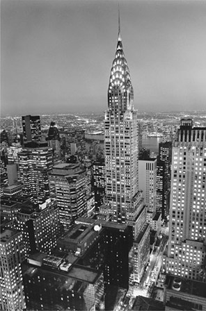 New York, New York, Chrysler Building at Night by Henri Silberman art print