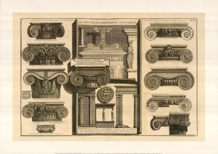 Della Magnificienza ed Architettura de Romani, (The Vatican Collection) by Giovanni Battista Piranesi art print
