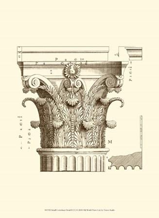 Small Corinthian Detail II (U) by Vision Studio art print