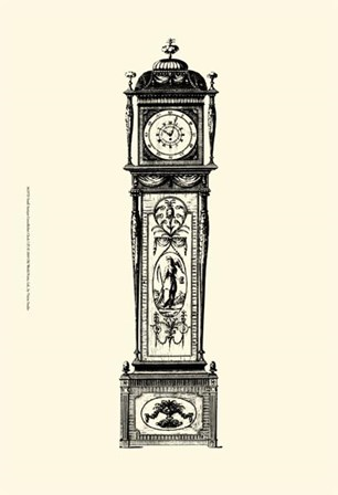 Sm Antique Grandfather Clock I by Vision Studio art print