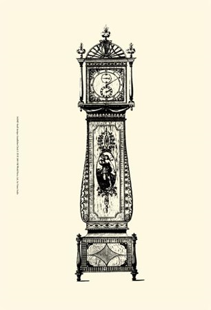 Sm Antique Grandfather Clock II by Vision Studio art print