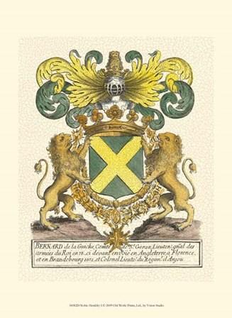 Noble Heraldry I by Vision Studio art print