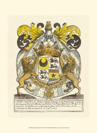 Noble Heraldry III by Vision Studio art print