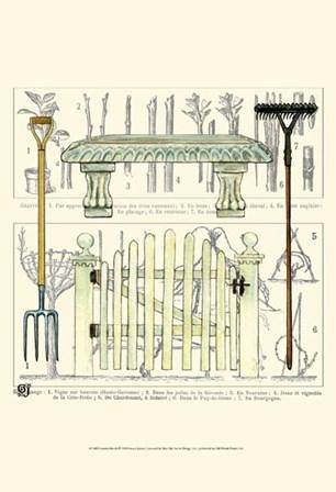 Garden Bench by Ginny Joyner art print