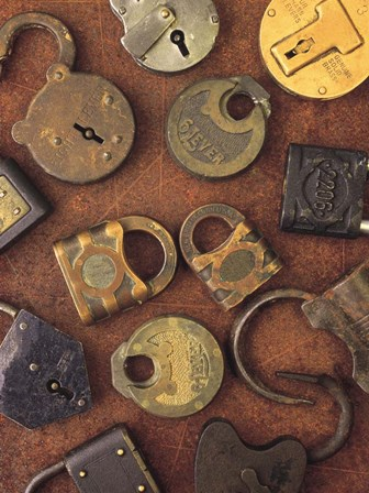 Antique Lock Collage by Vision Studio art print