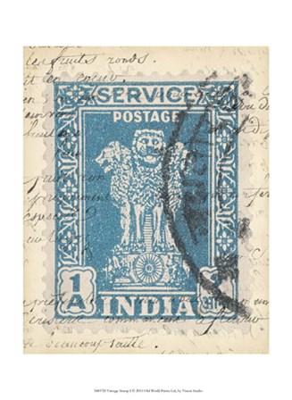 Vintage Stamp I by Vision Studio art print