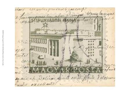 Vintage Stamp II by Vision Studio art print