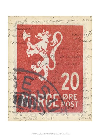 Vintage Stamp III by Vision Studio art print