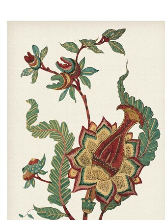 Small Jacobean Floral I by Vision Studio art print