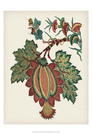 Small Jacobean Floral II by Vision Studio art print