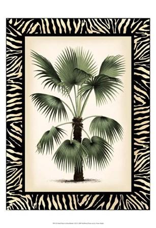 Small Palm in Zebra Border II by Vision Studio art print