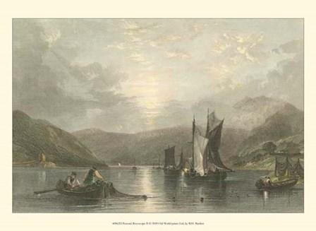 Pastoral Riverscape II by W. H. Bartlett art print