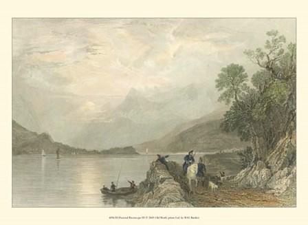 Pastoral Riverscape III by W. H. Bartlett art print