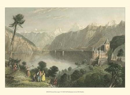Pastoral Riverscape V by W. H. Bartlett art print