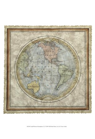 Small Western Hemisphere by Vision Studio art print