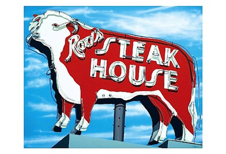 Rod's Steakhouse by Anthony Ross art print