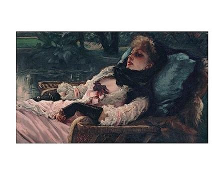 The Dreamer, of Summer Evening, ca. 1881 by James Jacques Joseph Tissot art print