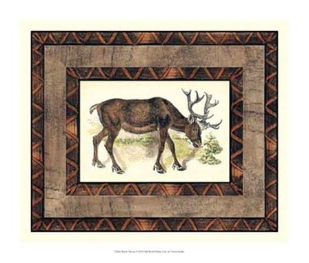 Rustic Moose by Vision Studio art print