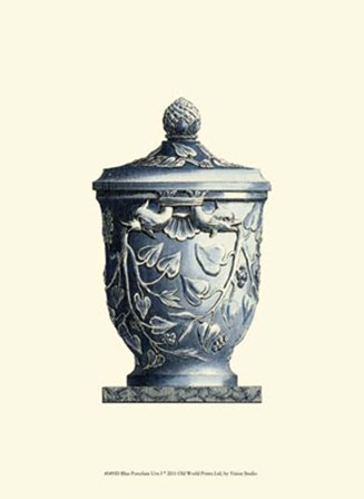 Blue Porcelain Urn I by Vision Studio art print